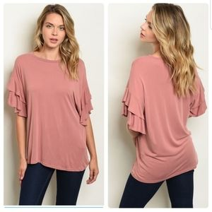 Tops - Frill Sleeve Top